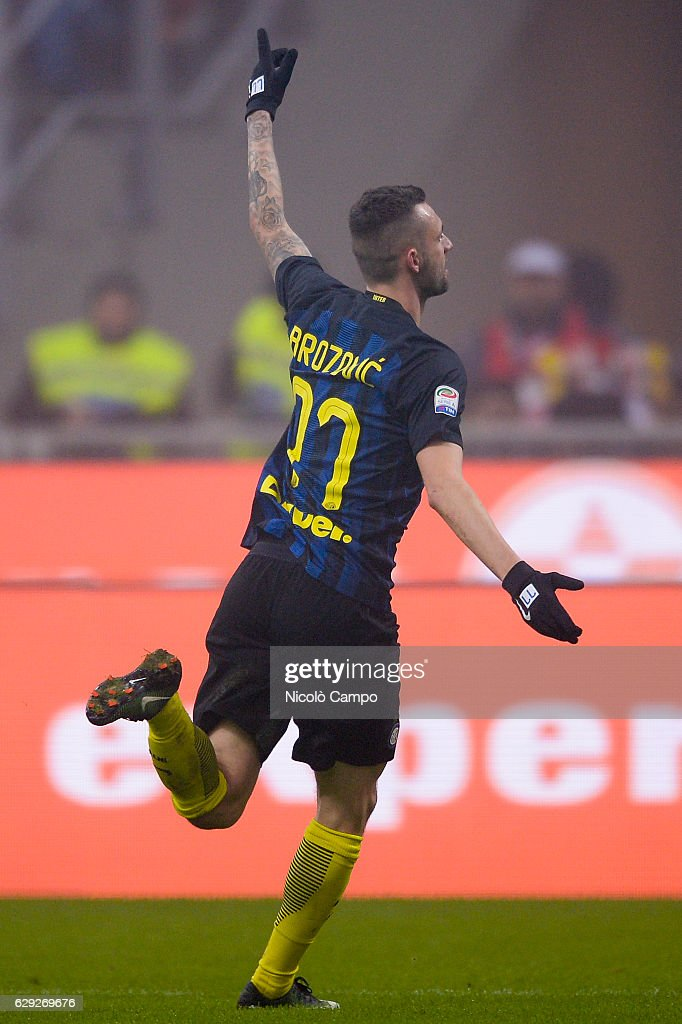 Marcelo Brozovic of FC Internazionale celebrates after... : Nachrichtenfoto
