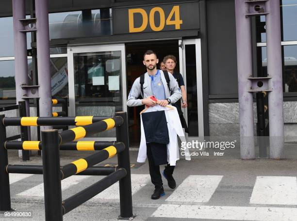 Marcelo Brozovic of FC Internazionale departs to Udine on May 5 2018 in Milan Italy