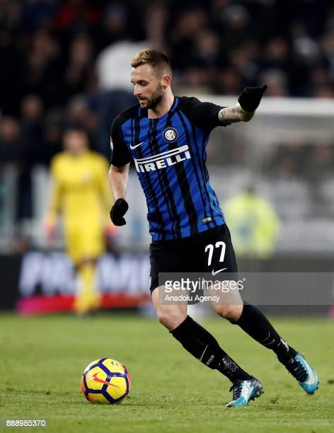 Marcelo Brozovic of FC Internazionale in action during the Serie A football match between FC Juventus and Internazionale at the Allianz Stadium in...