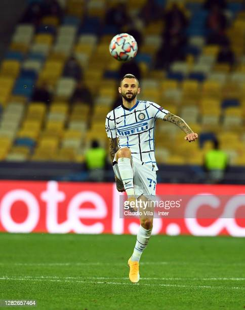Marcelo Brozovic of FC Internazionale in action during the UEFA Champions League Group B stage match between Shakhtar Donetsk and FC Internazionale...