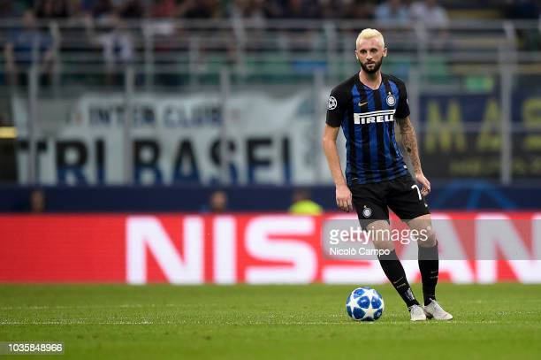 Marcelo Brozovic of FC Internazionale in action during the UEFA Champions League football match between FC Internazionale and Tottenham Hotspur FC...