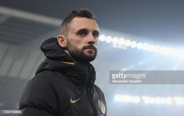 Marcelo Brozovic of FC Internazionale looks on during the Serie A match between Udinese Calcio and FC Internazionale at Stadio Friuli on February 2,...