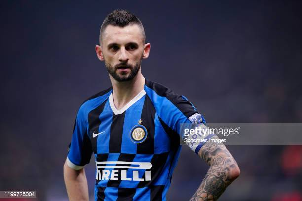 Marcelo Brozovic of FC Internazionale Milano during the Italian Serie A match between Internazionale v AC Milan at the San Siro on February 9 2020 in...