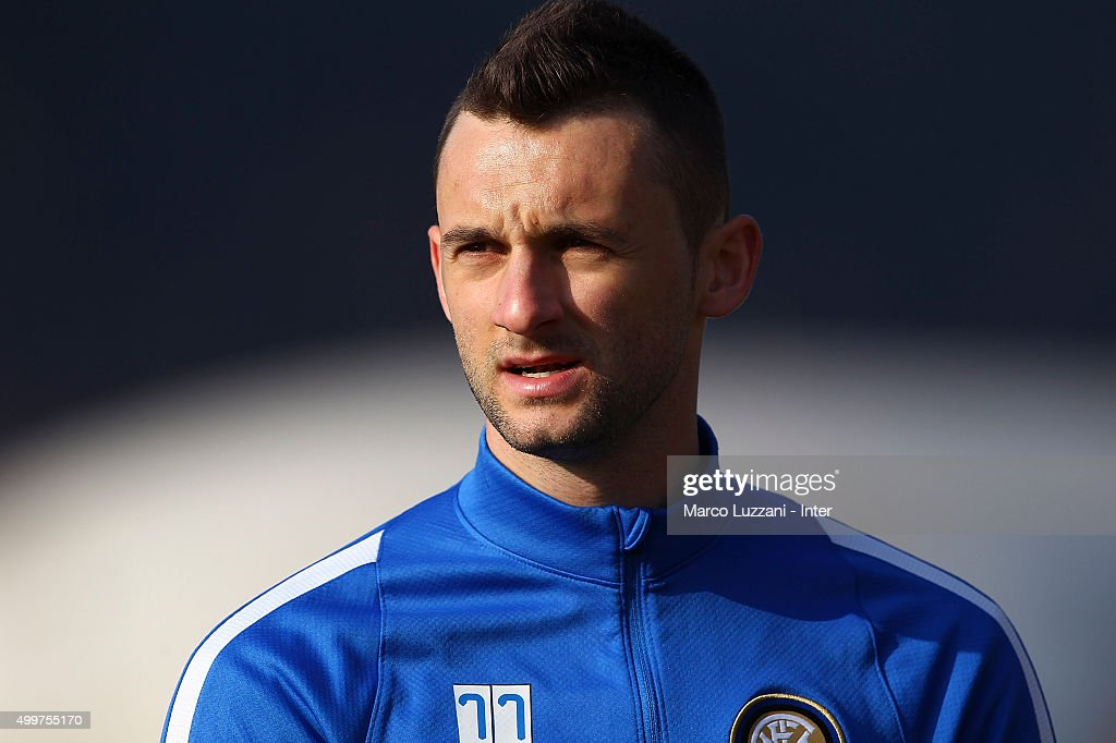 Marcelo Brozovic of FC Internazionale Milano looks on during the FC Internazionale training session at the club's training ground on December 3, 2015 in Appiano Gentile Como, Italy.