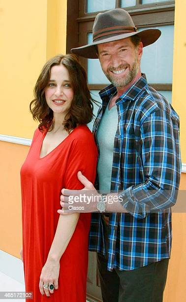 Marcelo Buquet and Claudia Ramirez during the recording startup of the Mexican Soap Opera Lo Imperdonable on March 02 2014 in Morelos Mexico