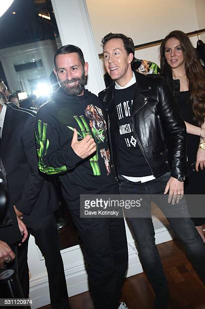 Marcelo Burlon and Saks Vice President Fashion Director Eric Jennings attends the Marcelo Burlon x Tyga Capsule Collection Party at The Blond at 11...