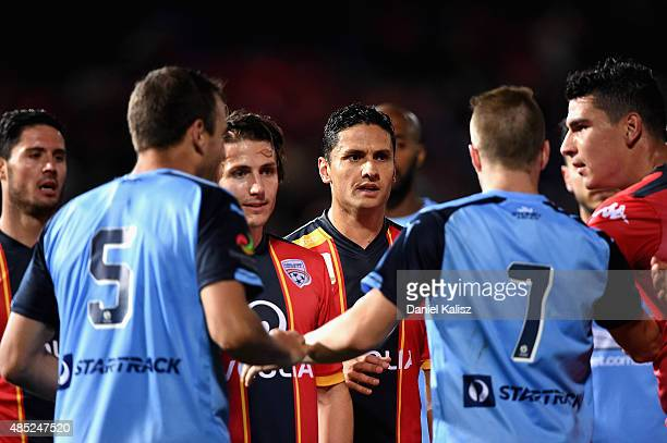 Marcelo Carrusca of United looks on during the FFA Cup Round of 16 match between Adelaide United and Sydney FC at Coopers Stadium on August 26 2015...