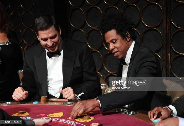 Marcelo Claure and JAYZ attend the Shawn Carter Foundation Gala at Hard Rock Live in the Seminole Hard Rock Hotel Casino on November 16 2019 in...