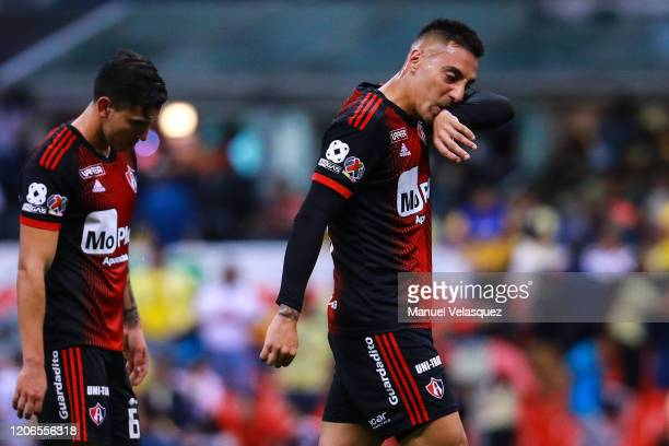 Marcelo Correa of Atlas gestures after the 6th round match between America and Atlas as part of the Torneo Clausura 2020 Liga MX at Azteca Stadium on...