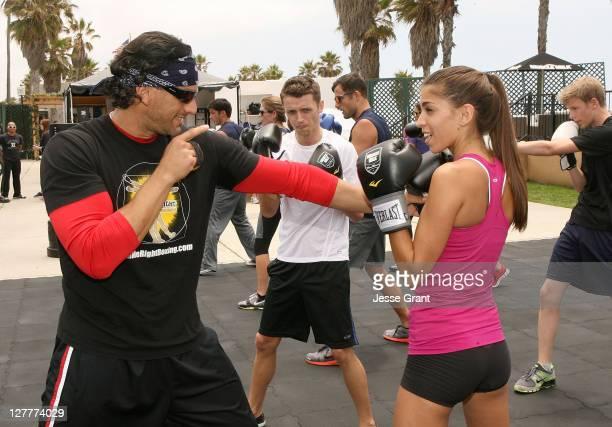 Marcelo Crudele and Antonella Barba attend the Muscle Milk Fitness Retreat on June 17 2011 in Venice California