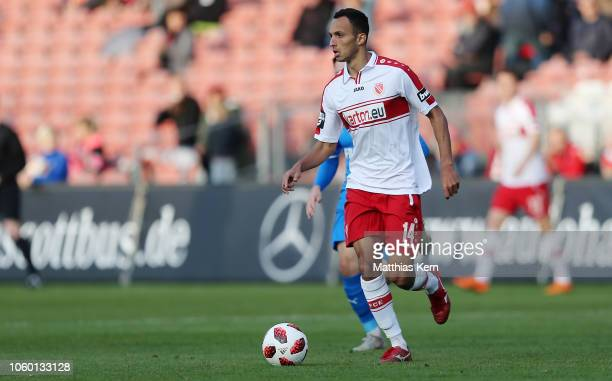 Marcelo De Freitas Costa of Cottbus runs with the ball during the 3. Liga match between FC Energie Cottbus and VfL Sportfreunde Lotte at Stadion der...