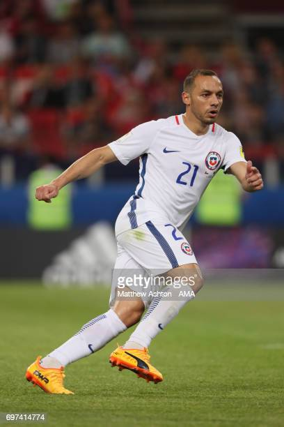 Marcelo Diaz of Chile in actionn during the FIFA Confederations Cup Russia 2017 Group B match between Cameroon and Chile at Spartak Stadium on June...