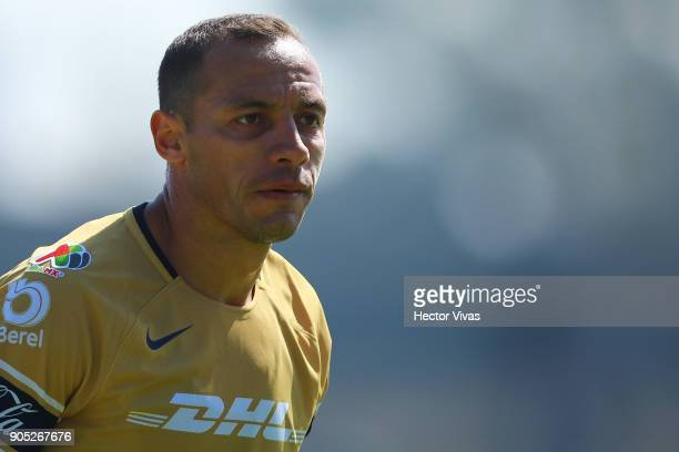 Marcelo Diaz of Pumas looks on during the second round match between Pumas UNAM and Atlas as part of the Torneo Clausura 2018 Liga MX at Olimpico...