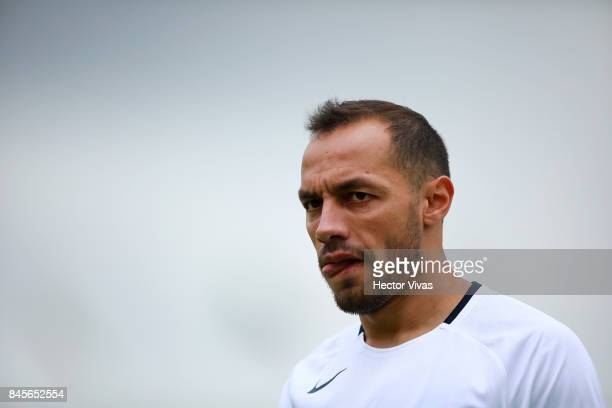 Marcelo Diaz of Pumas reacts during the 8th round match between Pumas UNAM and Tijuana as part of the Torneo Apertura 2017 Liga MX at Olimpico...