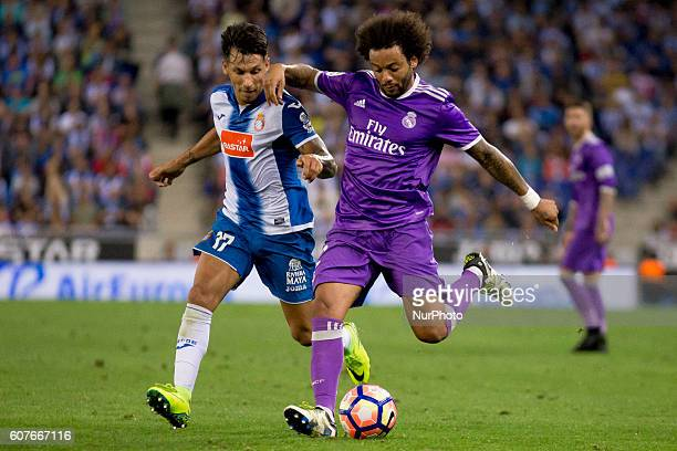 Marcelo during spanish league match between RCD Espanyol and Real Madrid in in Cornellà on September 18 2016