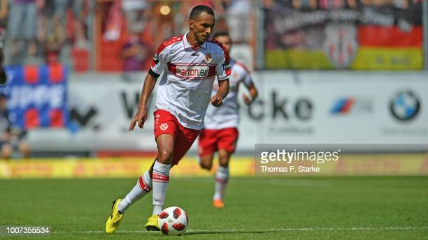 Marcelo Freitas of Cottbus runs with the ball during the 3. Liga match between FC Energie Cottbus and F.C. Hansa Rostock at Stadion der Freundschaft...