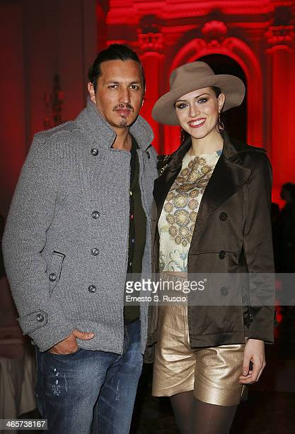 Marcelo Fuentes and Sofia Bruscoli attend the runway during the Giada Curti fashion show at Residenza di Ripetta as part of AltaRoma Fashion Week...