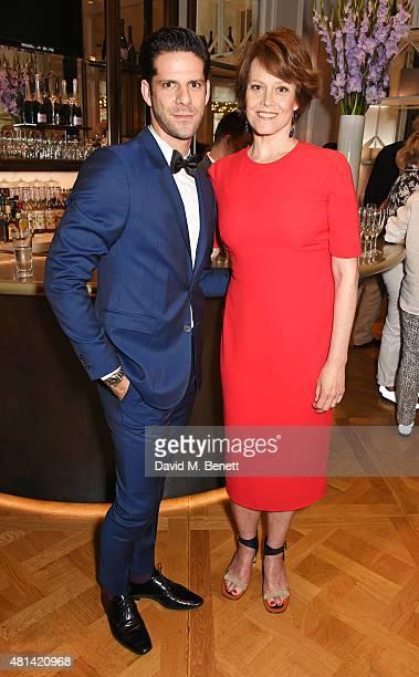 Marcelo Gomes and Sigourney Weaver attend a celebration of Brazilian ballet dancer Marcelo Gomes hosted by Sigourney Weaver Ali Wambold and Monica GS...