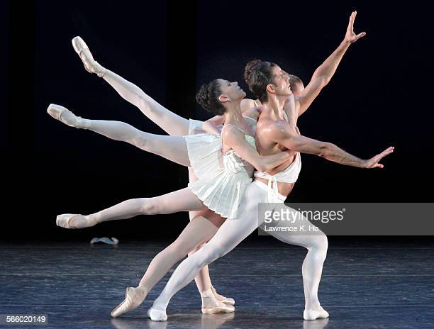 Marcelo Gomes as Apollo and Paloma Herrera as Terpsichore with Devon Teuscher as PolyHymnia and Melanie Hamrick as Calliope in Balanchine's Apollo in...
