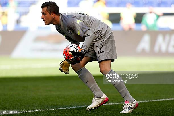 Marcelo Grohe of Brazil gathers in the ball during their match against Costa Rica at Red Bull Arena on September 5 2015 in Harrison New Jersey
