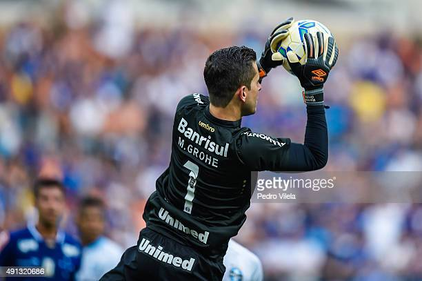 Marcelo Grohe of Gremio a match between Cruzeiro and Gremio as part of Brasileirao Series A 2015 at Mineirao stadium on October 04 2015 in Belo...