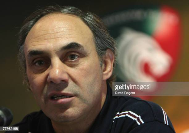 Marcelo Loffreda head coach of Leicester Tigers faces the press at a media conference held at Welford Road on November 7 2007 in Leicester England
