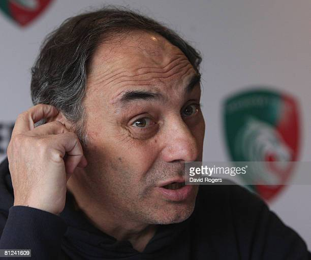 Marcelo Loffreda the Leicester Tigers Head Coach attends the Leicester Tigers press conference held at Oadby Oval on May 27 2008 in Leicester England