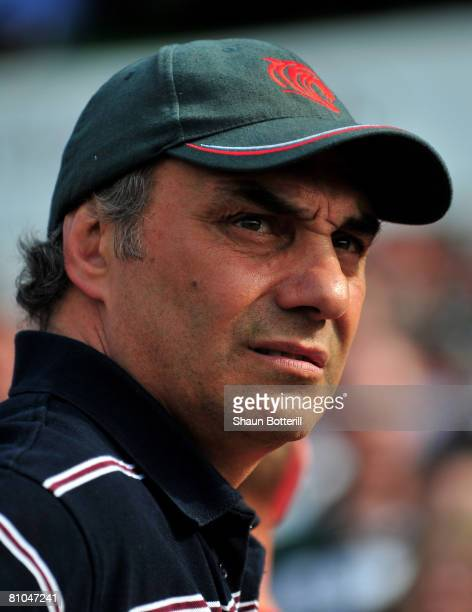 Marcelo Loffreda the Tigers coach at the end of the Guinness Premiership match between Leicester Tigers and Harlequins at Welford Road on May 10 2008...
