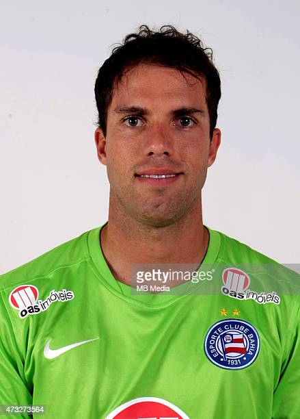 Marcelo Lomba of Esporte Clube Bahia poses during a portrait session August 14 2014 in SalvadorBrazil