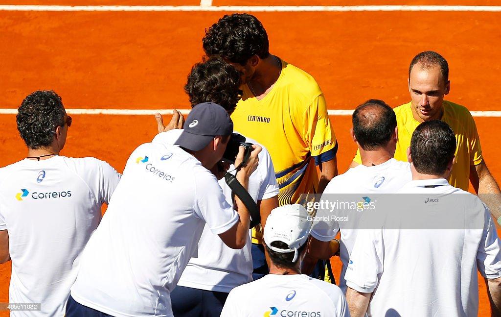 Argentina v Brazil - Davis Cup 2015 Day 2
