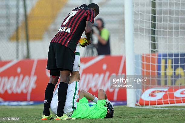 Marcelo of AtleticoPR and Danilo of Chapecoense during the match between AtleticoPR and Chapecoense for the Brazilian Series A 2014 at Willie Davids...