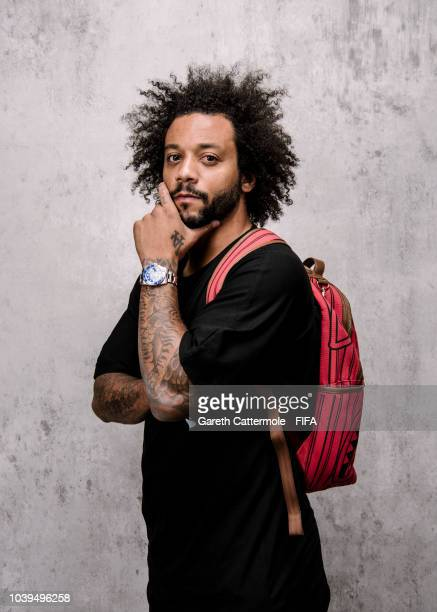 Marcelo of Brazil and Real Madrid poses for a portrait prior to The Best FIFA Football Awards at London Marriott Hotel County Hall on September 24...