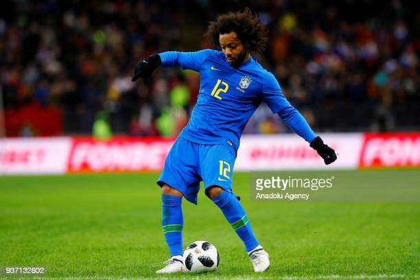 Marcelo of Brazil is seen during the international friendly match between Russia and Brazil at BSA OC 'Luzhniki' Stadium in Moscow Russia on March 23...