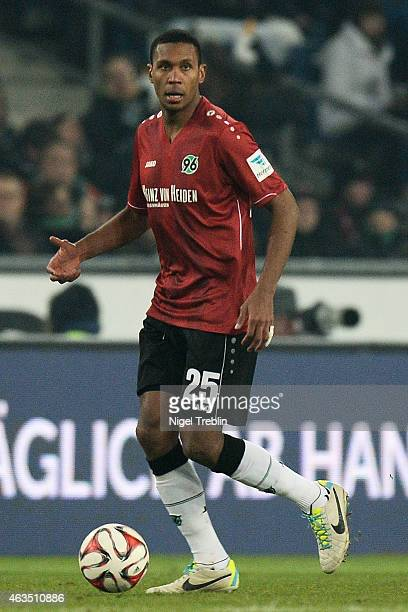 Marcelo of Hannover controls the ball during the Bundesliga match between Hannover 96 and SC Paderborn 07 at HDIArena on February 15 2015 in Hanover...
