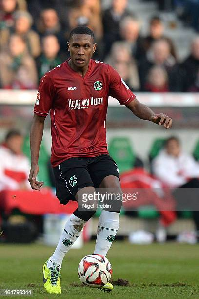 Marcelo of Hannover controls the ball during the Bundesliga match between Hannover 96 and VfB Stuttgart at HDIArena on February 28 2015 in Hanover...