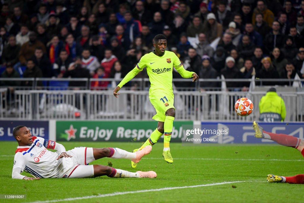 FRA: Olympique Lyonnais v FC Barcelona - UEFA Champions League