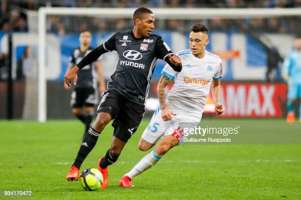 Marcelo of Lyon during the Ligue 1 match between Olympique Marseille and Lyon at Stade Velodrome on March 18, 2018 in Marseille, .