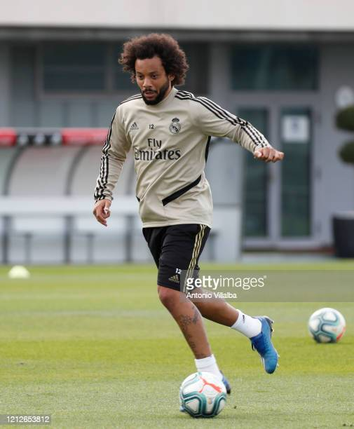 Marcelo of Real Madrid during a first training session since the Covid19 pandemic at Valdebebas training ground on May 11 2020 in Madrid Spain