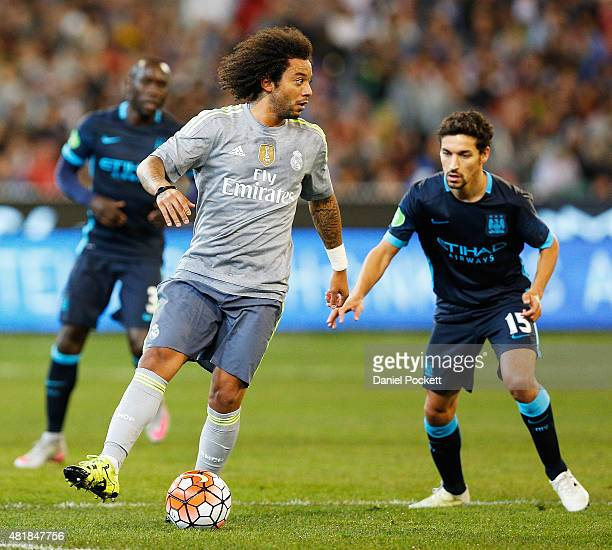 Marcelo of Real Madrid during the International Champions Cup match between Real Madrid and Manchester City at Melbourne Cricket Ground on July 24...