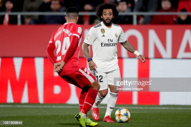 Marcelo of Real Madrid during the Spanish Copa del Rey match between Girona v Real Madrid at the Estadi Municipal Montilivi on January 31, 2019 in...