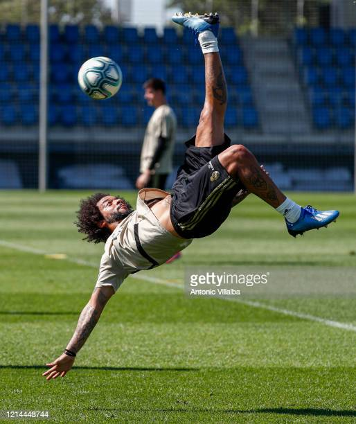 Marcelo of Real Madrid during the team's training session during the Covid-19 pandemic at Valdebebas training ground on May 21, 2020 in Madrid, Spain.