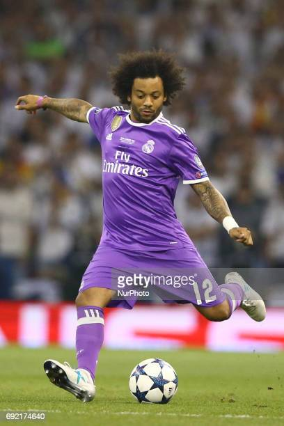 Marcelo of Real Madrid during the UEFA Champions League Final between Juventus and Real Madrid at National Stadium of Wales on June 3 2017 in Cardiff...