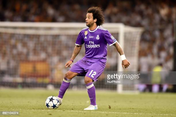 Marcelo of Real Madrid during the UEFA Champions League Final match between Real Madrid and Juventus at the National Stadium of Wales Cardiff Wales...