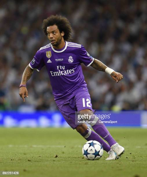 Marcelo of Real Madrid during the UEFA Champions League Final match between Juventus and Real Madrid at National Stadium of Wales on June 3 2017 in...