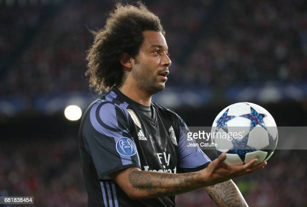 Marcelo of Real Madrid during the UEFA Champions League Semi Final second leg match between Club Atletico de Madrid and Real Madrid CF at Vicente...