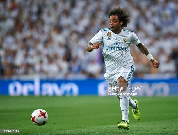 Marcelo of Real Madrid in action during the Supercopa de Espana Supercopa Final 2nd Leg match between Real Madrid and FC Barcelona at Estadio...