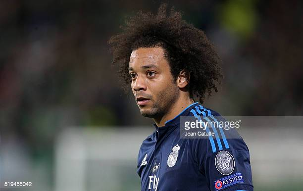 Marcelo of Real Madrid in action during the UEFA Champions League quarter final first leg match between VfL Wolfsburg and Real Madrid at Volkswagen...