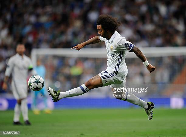 Marcelo of Real Madrid in actionduring the UEFA Champions League Group F match between Real Madrid CF and Sporting Clube de Portugal on September 14...