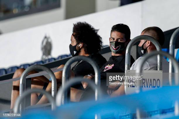 Marcelo of Real Madrid James Rodriguez of Real Madrid Nacho of Real Madrid during the La Liga Santander match between Real Madrid v Deportivo Alaves...