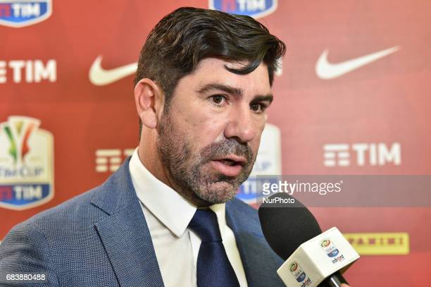 Marcelo Salas former SS Lazio player during a prematch press conference on May 16 2017 at Stadio Olimpico in Rome Italy